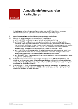 Thumbnail Aanvullende Voorwaarden Particulieren document