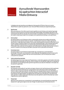 Thumbnail Aanvullende Voorwaarden bij opdrachten Interactief Media Ontwerp document