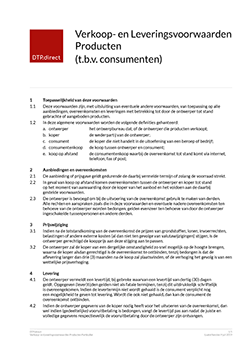 Thumbnail Verkoop- en Leveringsvoorwaarden Producten Particulier document