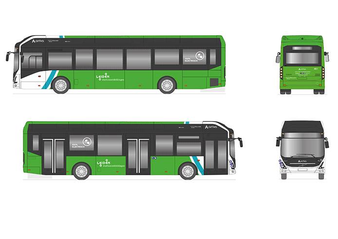 Artwork Arriva Bus LLE115 Leiden