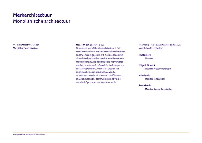 Maastro Corporate Identity Book pagina 03