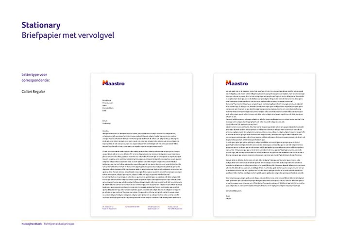 Maastro Corporate Identity Book pagina 12