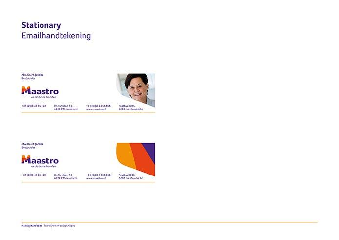 Maastro Corporate Identity Book pagina 14