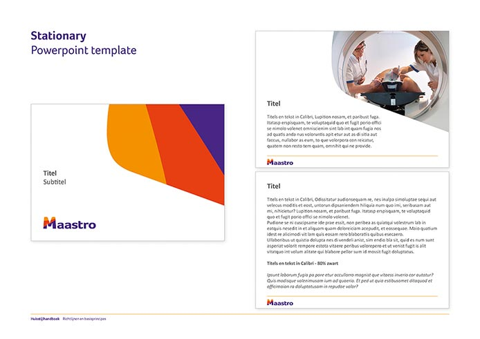 Maastro Corporate Identity Book pagina 16