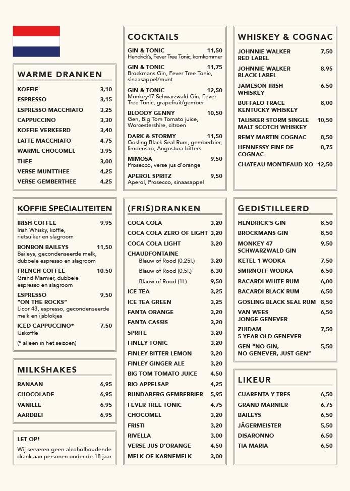 Nieuwe Kafé menukaart pagina 4