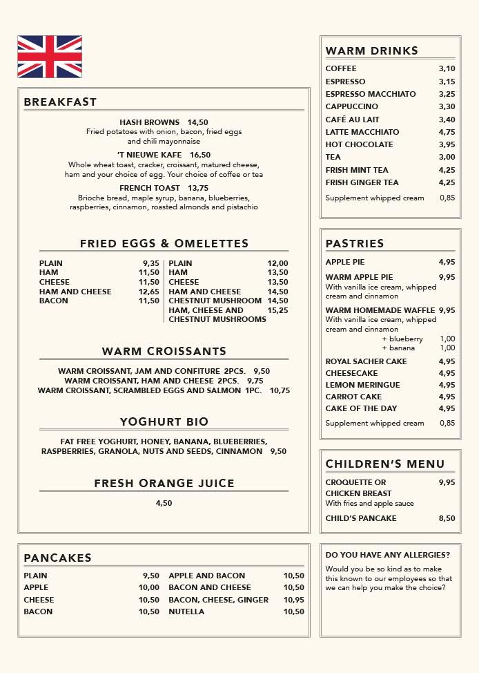 Nieuwe Kafé menukaart pagina 6