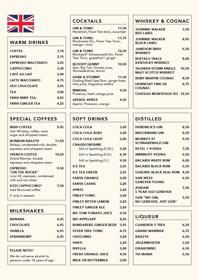 Nieuwe Kafé menukaart pagina 8