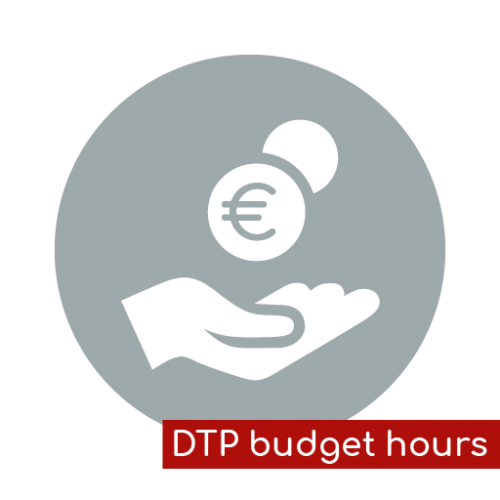Product icon DTP budget hours