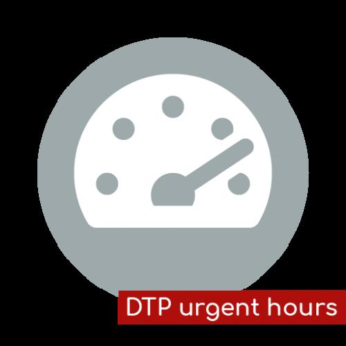 Product icon DTP spoed uren