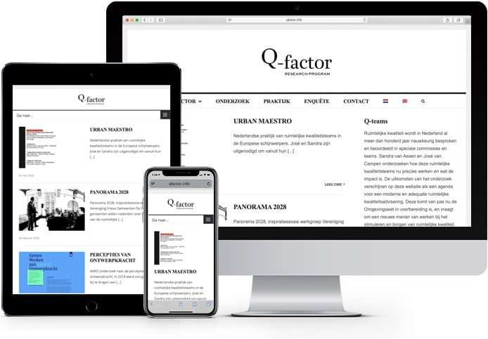 Q-factor website showcase
